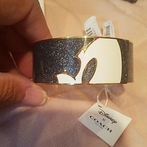 NWT Mickey X COACH BRACELET Bangle Enamel